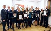 Zdjęcie grupowe z nagrodzonymi podczas XXIII Złotych Barlineckich Gęsiarek